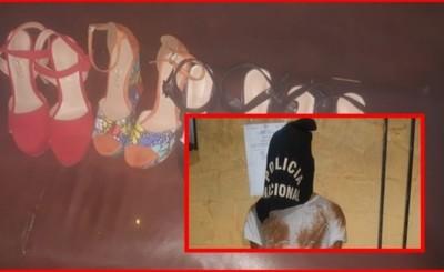 Detenido por supuesto robo de zapatos para damas