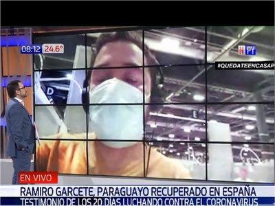 """Paraguayo que se curó del COVID-19, en España: """"Vivir con la enfermedad es una pesadilla"""""""