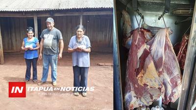 ENTREGARON 140 KG DE CARNE A 87 FAMILIAS ITAPÚA POTY.