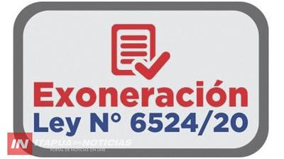 EL BOTÓN «EXONERACIÓN LEY 6524/20», YA ESTÁ HABILITADO!