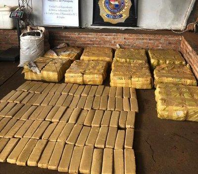 Decomisan 418 kilos de marihuana en María Auxiliadora