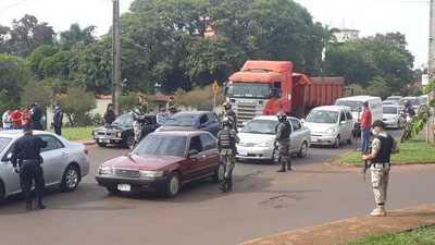 Estrictos controles e incautación de vehículos Ciudad del Este