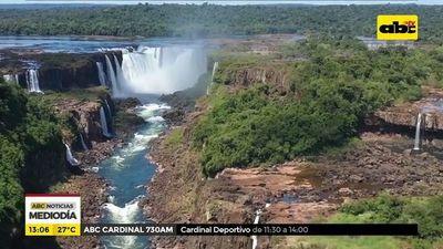 Las cataratas del Yguazú sin su espectáculo