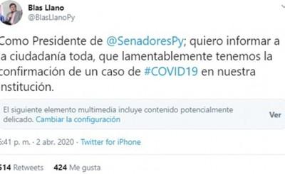 Coronavirus confirmado en el Congreso Nacional