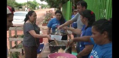 Covid-19: Ollas populares salvan situación de necesidad en barrios humildes de Caaguazú
