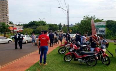 Casi medio centenar de aprehendidos en las calles del Alto Paraná