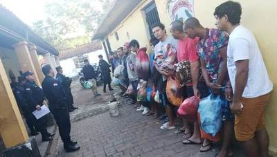 Catorce detenidos son remitidos a Asunción •