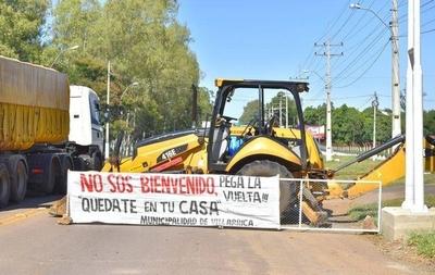 """HOY / Villarrica: """"No sos bienvenido"""" mensaje que impide el acceso a la ciudad"""