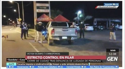 HOY / Victor Ocampos, desde Ñeembucú, Pilar, sobre controles y el cierre de la ciudad, tras la llegada de personas en el lugar
