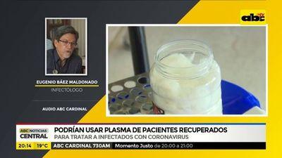 Podrían usar plasma de pacientes recuperados
