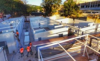 Hospitales de contingencia Ineram e Itauguá tienen 30% de ejecución