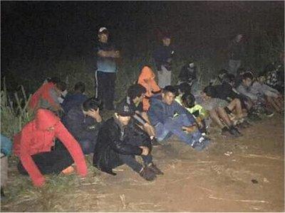Detienen a 45 personas que hacían pasar mercaderías y personas del Brasil