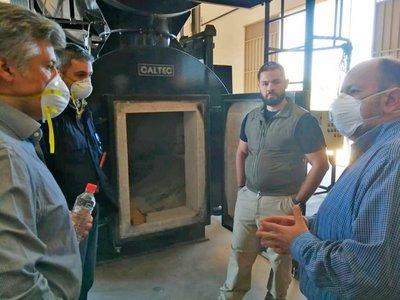 Covid-19: Inspeccionan horno pirolítico de la Secretaría Nacional Antidrogas