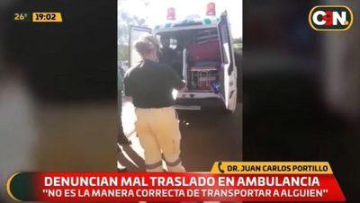 Detienen una ambulancia por trasladar a varias personas
