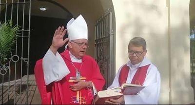 Obispo pide en esta cuaresma ser solidarios quedándose en casa