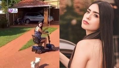 """La nueva esposa joven pasea en """"motito"""" de Rodolfo Friedmann"""
