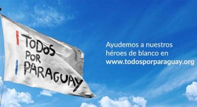 """""""TODOS POR PARAGUAY"""": LA CAMPAÑA QUE INICIA HOY PARA APOYAR LA LUCHA DE LOS HÉROES DE BLANCO"""