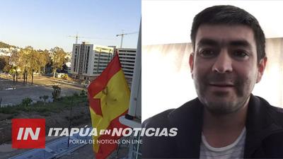 """""""KYHYJEPOPE ESTAMOS ACÁ"""" RESALTÓ UN ITAPUENSE DESDE ESPAÑA."""