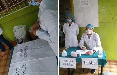 Ejecutan protocolo de atención en USF Pablo Rojas, Ciudad del Este