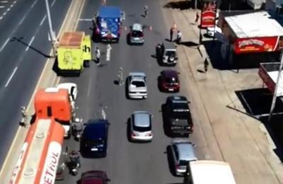Conductores circulan bajo cualquier excusa en la Ruta Transchaco