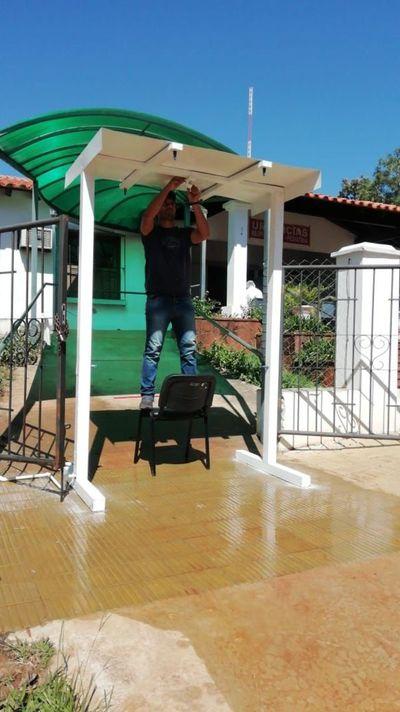 Jóvenes fabrican aspersor para desinfección en hospitales de San Ignacio