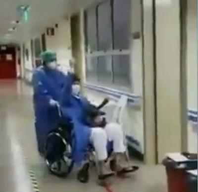 Paciente mejora de coronavirus y sale aplaudido de su internación