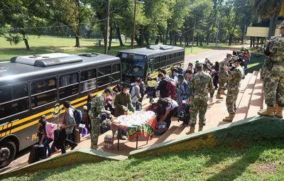 Los 73 compatriotas cumplieron la cuarentena obligatoria en Academil