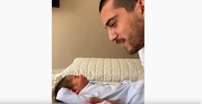 El tierno video que compartió Rubén Rubín junto a su hijo recién nacido