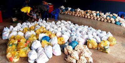 Realizan colecta solidaria en Limpio para familias vulnerables