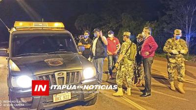EXTENSIÓN DE LA CUARENTENA, PUESTOS DE CONTROL SANITARIO ITAPÚA FIRMES LAS 24HS.
