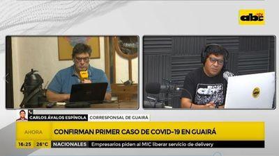 Confirma primer caso de covid-19 en Guairá