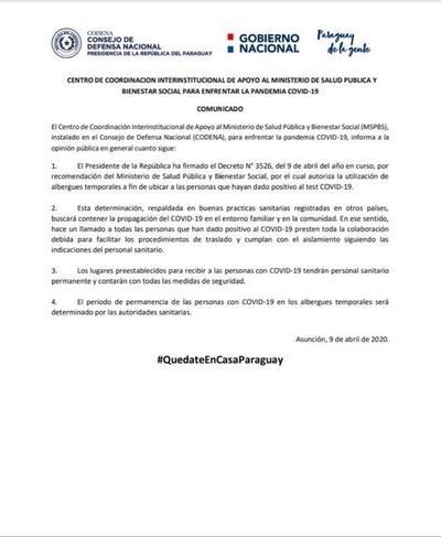 Mazzoleni aclara confusión que generó decreto sobre cuarentena