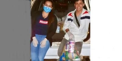 Coco Bordón entregó kits a familias carenciadas