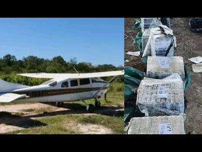 INCAUTAN 385 KILOS DE COCAINA Y UNA AVIONETA ABANDONADA