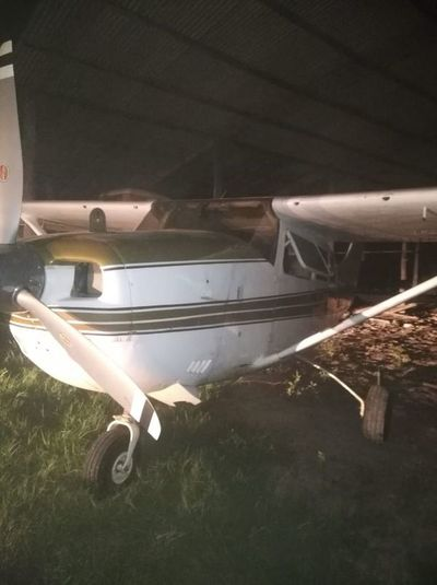 Capturan en Bahía Negra avioneta que transportaba cocaína