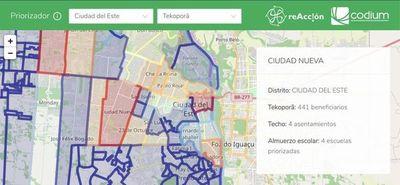 Con mapa interactivo buscan identificar y monitorear zonas de ayuda