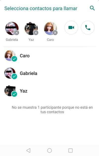 WhatsApp ahora permite hacer video llamada grupal