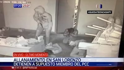 Capturan a miembro del PCC y líder de banda de asaltantes en San Lorenzo