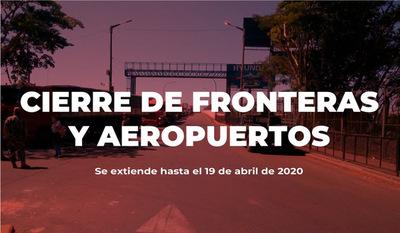 Migraciones recuerda que cierre de fronteras y aeropuertos se extiende hasta el 19 de abril