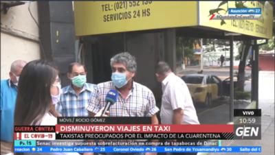 HOY / Taxistas de la zona de la Terminal de Ómnibus preocupados por escasez de clientes y falta de ingresos por la crisis del coronavirus