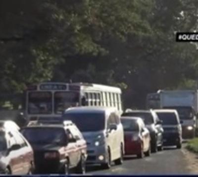Intenso tráfico en la zona de la Transchaco