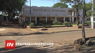 INTENDENTE DE CAPITÁN MIRANDA RECLAMA TRANSFERENCIAS AL GOBIERNO NACIONAL.