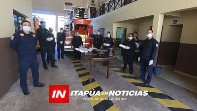 BOMBEROS DE ENCARNACIÓN COCINAN PARA UN CENTENAR DE FAMILIAS HUMILDES.