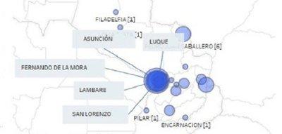 Estas son las ciudades con más casos de coronavirus en Paraguay
