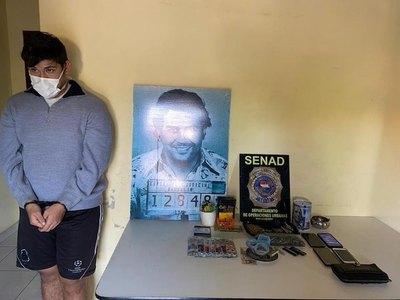 """Senad detiene a fan del """"Patrón"""" Pablo Escobar"""