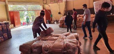 SEN entrega 24.000 kilos de alimentos en Presidente Franco, tras protesta de pobladores