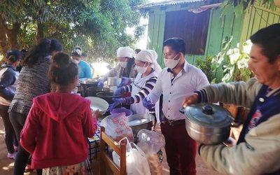 Carlos Portillo apadrina ollas populares en distintos barrios de Ciudad del Este – Diario TNPRESS