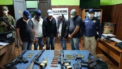 Capturan a supuestos sicarios de Samura e incautan armas de grueso calibre