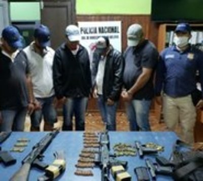 Caso Samura: Detienen a 5 presuntos sicarios con fusiles y pistola