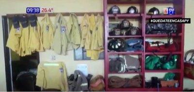 Bomberos de Minga Guazú van a paro por falta de recursos